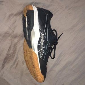ASICS running shoes worn lightly